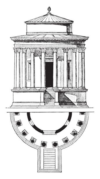 Temple of Vesta, Tivoli,  the early first century BCE, vintage e